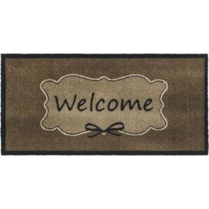 Covoras intrare antimurdarie Vision Welcome taupe 40x80 cm
