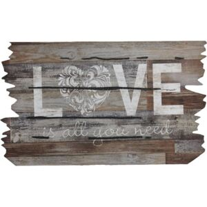 Covoras intrare cauciuc Love is all you need 46x76 cm