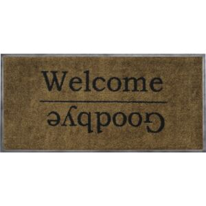 Covoras de intrare antimurdarie Welcome & Goodbye 40x80 cm