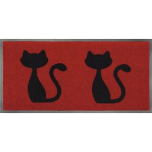 """Covoras intrare antimurdarie Emotion """"cats red"""" 40x80 cm"""