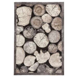 Covor Think Rugs Woodland, 120 x 170 cm, aspect lemn