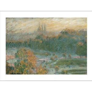 The Tuileries (study), 1875 Reproducere, Claude Monet, (30 x 24 cm)
