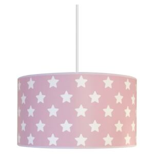 Lampa copii STARS PINK 1xE27/60W/230V