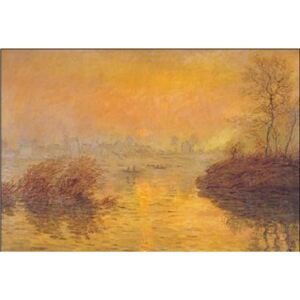Sunset on the Seine at Lavacourt Reproducere, Claude Monet, (30 x 24 cm)
