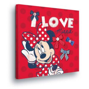 GLIX Tablou - Disney Minnie Mouse in Red II 40x40 cm
