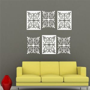 Sticker decorativ White Lace 6 buc / set