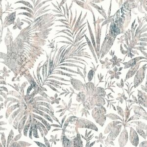 DUTCH WALLCOVERINGS Tapet model frunze și pasărea tucan, bej L685-08