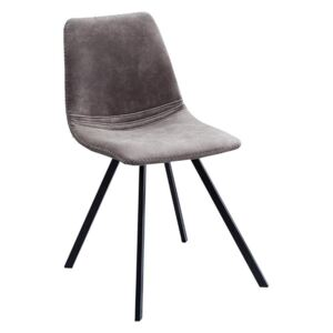 Scaun dining gri inchis Chair Amsterdam Retro Taupe Grey