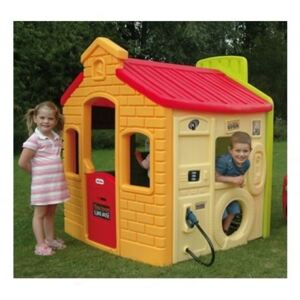 Little Tikes - Casuta Benzinarie 4 in 1, Multicolor