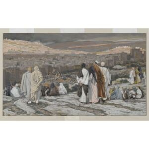 The Disciples Having Left Their Hiding Place Watch from Afar in Agony, illustration from 'The Life of Our Lord Jesus Christ', 1886-94 Reproducere, James Jacques Joseph Tissot