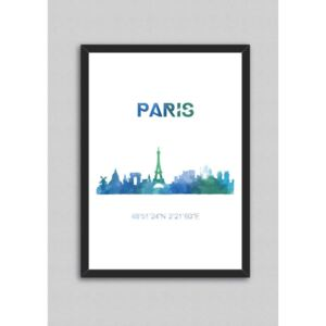 Tablou North Carolina Scandinavian Home Decors Paris, 33 x 43 cm