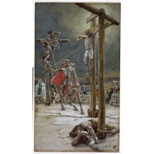 One of the Soldiers with a Spear Pierced His Side, illustration for 'The Life of Christ', c.1886-94 Reproducere, James Jacques Joseph Tissot