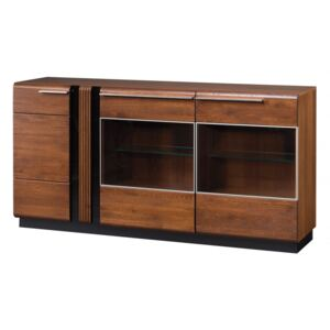 Porti 48 (dulap3d) antique oak/black glass