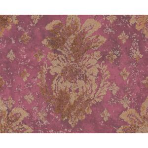 Tapet vlies Boho Love imprimeu ornamental rosu/auriu 10,05x0,53 m