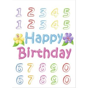 Sticker Happy Birthday 65x85 cm