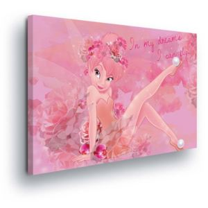 GLIX Tablou - Pink Disney Decoration with the Fairies 100x75 cm