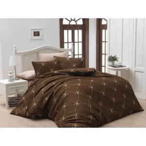 Lenjerie single Beverly Hills Polo Club 100%bumbac ranforce Brown