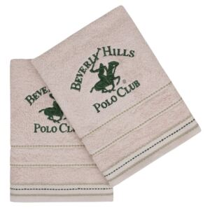 Set 2 prosoape maini 50x90cm Beverly Hills Polo Club 403 bej