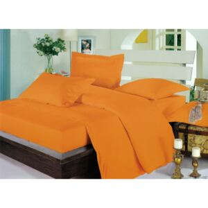 Lenjerie Damasc Imperial 100% bumbac DU16 Orange