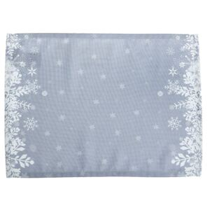 Set 2 suporturi farfurii Apolena Honey Snowflakes, 33 x 45 cm, gri
