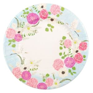 Set 8 farfurii din hârtie GiviItalia Secret Garden, ⌀ 21 cm