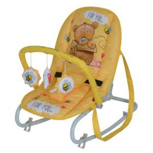 Fotoliu balansoar Top Relax Yellow Bear