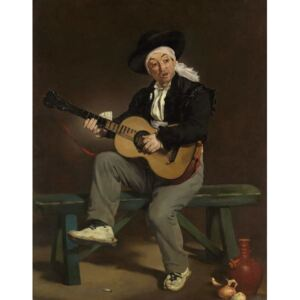 The Spanish Singer, 1860 Reproducere, Edouard Manet