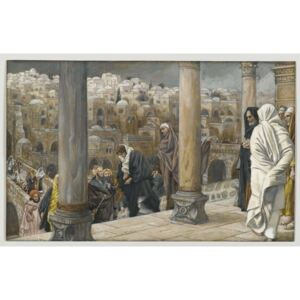 James Jacques Joseph Tissot - The Gentiles Ask to See Jesus, illustration from 'The Life of Our Lord Jesus Christ', 1886-94 Reproducere