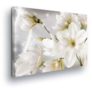 GLIX Tablou - Magic White Flowers 80x60 cm