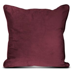 PERNA DECORATIVA EASY VELUR BORDO, CU FERMOAR, 45X45 CM