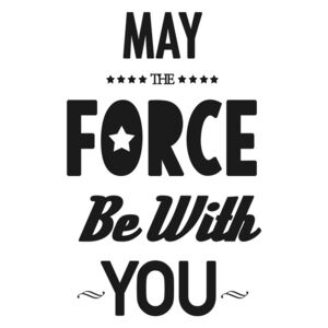 Ilustrare may the force be with you, Finlay Noa