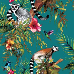 DUTCH WALLCOVERINGS Tapet model lemur, verde, 12402 12402
