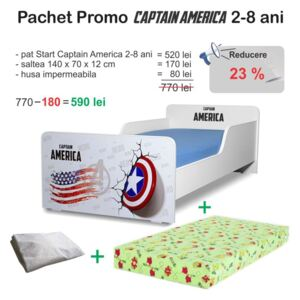 Pchet promo Pat copii Start Captain America 2-8 ani