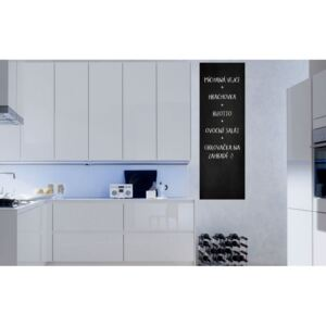GLIX Chalkboard foil in the kitchen - autocolant de perete Negru 50 x 100 cm