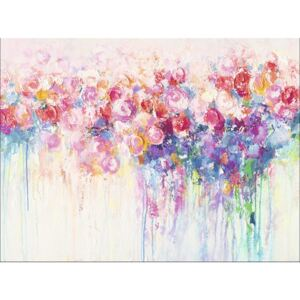 Tablou canvas Abstract Flowers 57x77 cm