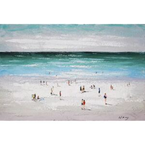 Tablou pictat manual Sea and people 80 x 120 cm