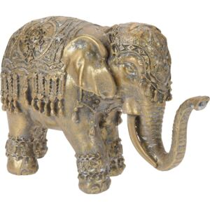 ELEFANT DECORATIV AURIU 19.2X7X12.3 CM