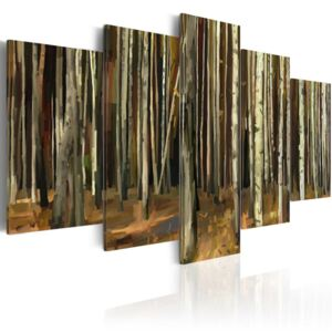 Tablou Bimago - The mystery of Sherwood Forest - 5 pieces 100x50 cm