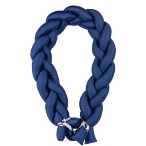Protectie laterala din bumbac Bumper impletit The Braid Navy 06