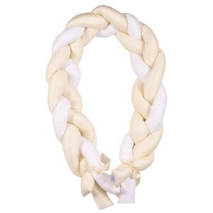 Protectie laterala din bumbac Bumper impletit The Braid Beige 02