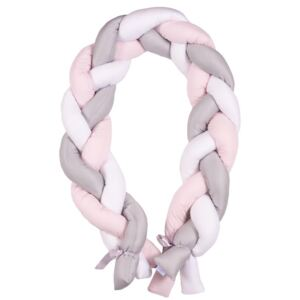 Protectie laterala Bumper impletit The Braid Pink 03