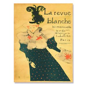 Tablou Canvas - La Revue Blanche, Text, Mesaj, Retro