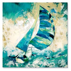 Tablou Canvas - Regatta in Apa Albastra I, Vapor, Mare, Retro