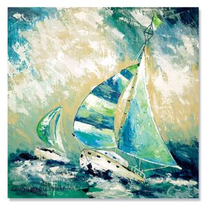 Tablou Canvas - Regatta in Apa Albastra II, Vapor, Mare, Retro