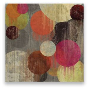 Tablou Canvas - Abstract, Cercuri, Multicolor, Vintage