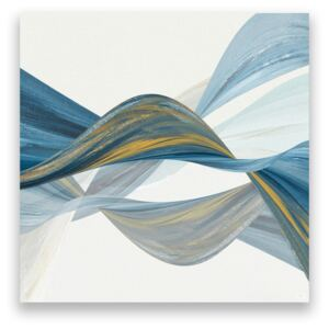 Tablou Canvas - Abstract, Forme, Modern, Albastru, Valuri