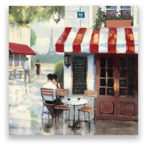 Tablou Canvas - Bistro II, Strada, Paris, Vintage, Turnul Eiffel