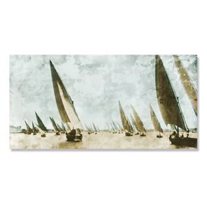 Tablou Canvas - Corabii inclinate, Mare, Apa, Barca, Retro