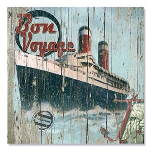 Tablou Canvas - Bon Voyage, Drum bun, vapor, calatorie, Retro