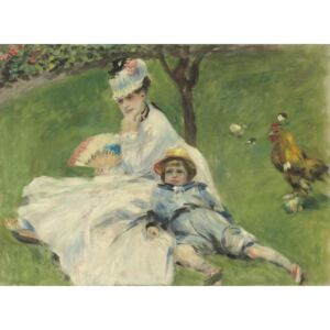 Madame Monet and Her Son, 1874 Reproducere, Pierre Auguste Renoir
